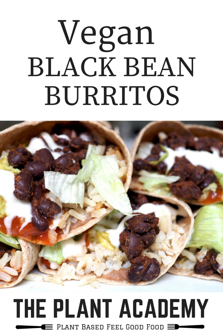Vegan Black Bean Burritos
